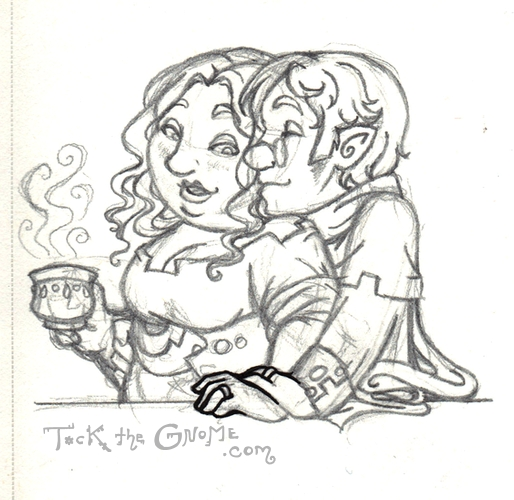 """Newlyweds,"" Tock's parents, ""Tock the Gnome"""